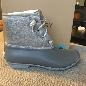 Sperry metallic saltwater duck boot
